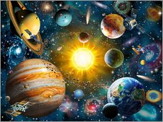 Wall Sticker  Our Solar System - Adrian Chesterman
