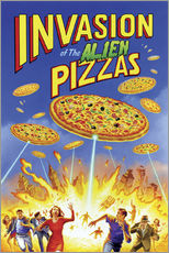 Wall sticker  Invasion of the alien pizzas - Gareth Williams