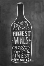 Wall sticker  Finest Wines - Lily & Val