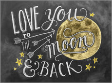 Gallery Print  Love you to the moon - Lily & Val