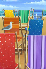 Wall sticker  Rainbow Deckchairs - Peter Adderley