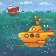 Wall sticker  Yellow Submarine - Peter Adderley