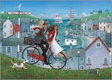 Wall sticker  Bicycle seascape - Peter Adderley