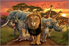 Wall Sticker  African beasts - Andrew Farley