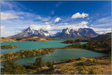 Gallery print  View of the Torres del Paine - Walter Bibikow