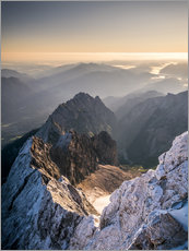 Wall sticker  View over the Alps from Zugspitze - Andreas Wonisch