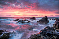 Gallery print  Sunset in Lanzarote at Los Hervideros - Andreas Wonisch