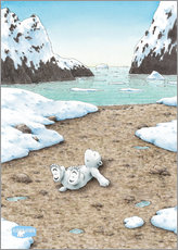 Gallery print  The Little Polar Bear dreaming