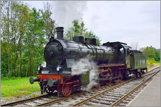 Wall sticker  Old Steam Locomotive in the Black Forest - FineArt Panorama