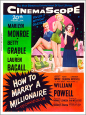 Gallery print  HOW TO MARRY A MILLIONAIRE, Betty Grable, Marilyn Monroe, Lauren Bacall