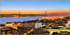 Wall sticker  Panorama  of Lisbon Portugal - Fine Art Images
