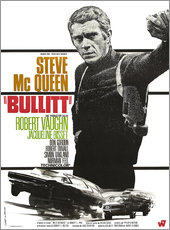 Gallery print  Steve Mcqueen in Bullitt (french)