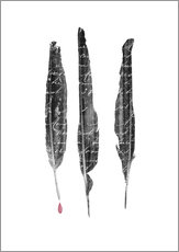Wall sticker  The author's feathers - Sybille Sterk