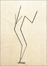 Wall sticker  Analytical drawing after photos of dancing?.. - Wassily Kandinsky