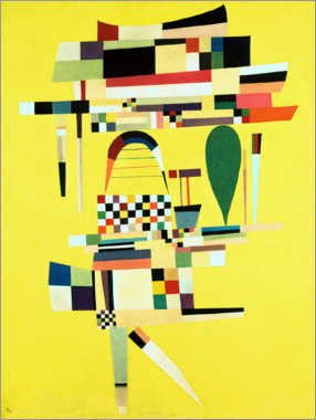 Aluminium print  The yellow canvas - Wassily Kandinsky