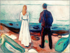 Wall sticker  Two human Beings. The Lonely Ones - Edvard Munch
