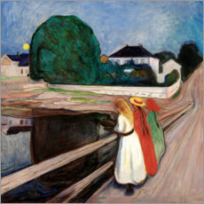 Acrylic print  The Girls on the Bridge - Edvard Munch