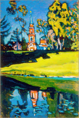 Gallery print  Red Church - Wassily Kandinsky