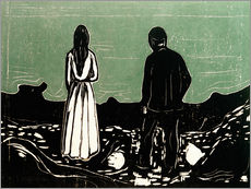 Gallery print  Two human Beings. The Lonely Ones - Edvard Munch