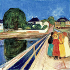 Aluminium print  The Girls on the Bridge - Edvard Munch