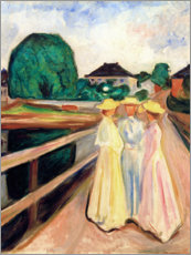 Premium poster  Girls on the pier - Edvard Munch
