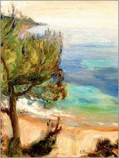 Canvas print  Landscape near Nice - Edvard Munch