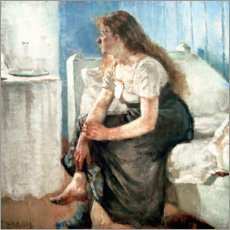 Wall sticker  Girl on the bed - Edvard Munch