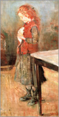 Canvas print  Red-Haired Girl with White Rat - Edvard Munch