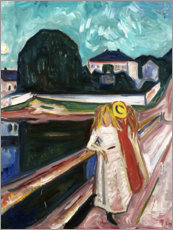 Canvas print  The Girls on the Bridge - Edvard Munch