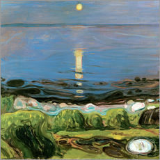Wall sticker  Summer night on the beach - Edvard Munch