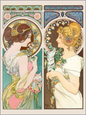 Alfons Mucha - Primrose & Feather
