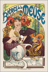 Wall sticker  Bières de la Meuse (Beers from the Meuse) - Alfons Mucha