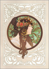 Wall sticker  Medallion with oriental woman - Alfons Mucha