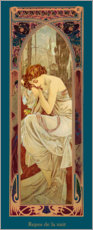 Canvas print  Times of the Day - Night's Rest - Alfons Mucha
