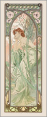 Foam board print  Evening Contemplation, times of the day series - Alfons Mucha
