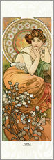 Gallery print  The Precious Stones - Topaz - Alfons Mucha