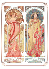 Wall sticker  Moet & Chandon, collage - Alfons Mucha