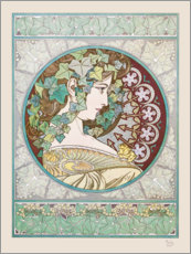 Wall sticker  Ivy - Alfons Mucha