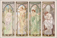 Wall sticker  Les heures du jour (Times of the Day) - Alfons Mucha