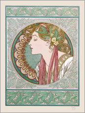 Wall sticker  Lorbeer - Alfons Mucha