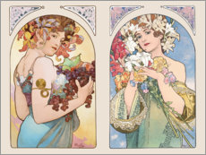 Wall sticker  Fruit & Flower - Alfons Mucha