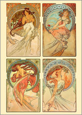 Gallery print  The four arts, collage - Alfons Mucha