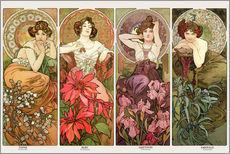 Wall sticker  The precious stones - Alfons Mucha