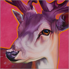 Wall Sticker  Deer Felix Pink - Renate Berghaus