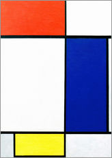 Gallery print  Composition with red, yellow, blue - Piet Mondriaan