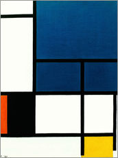 Gallery print  Composition with big blue surface - Piet Mondriaan