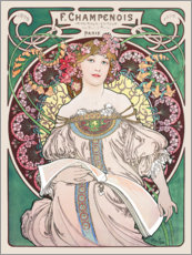 Wall Stickers  Obraz green - Alfons Mucha