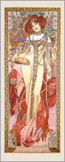 Gallery Print  Seasons - Autumn - Alfons Mucha