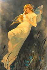 Wall Stickers  The Fairy - Alfons Mucha