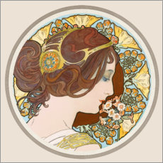 Wall sticker  Cowslip, Portrait - Alfons Mucha